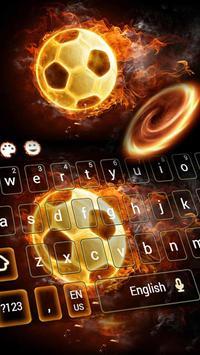 Fire Football Kick Keypad Theme screenshot 3