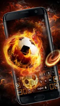 Fire Football Kick Keypad Theme poster