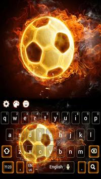 Fire Football Kick Keypad Theme apk screenshot
