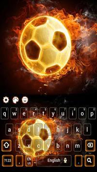 Fire Football Kick Keypad Theme screenshot 2
