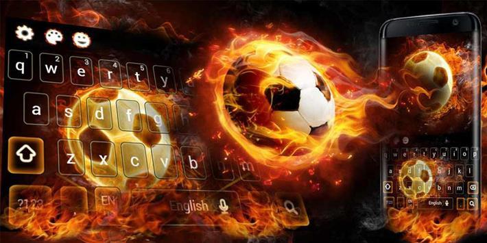 Fire Football Kick Keypad Theme screenshot 4