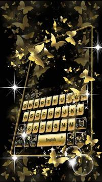 Golden Butterfly Keyboard Theme poster