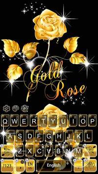 Gold Rose Keyboard Theme apk screenshot