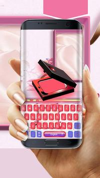 Glitter cosmetic case keyboard poster
