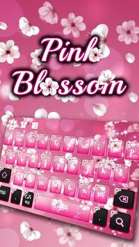 Pink Blossom Keyboard poster