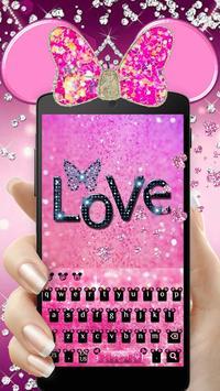 Pink Cute Minny Bowknot Keyboard Theme screenshot 5