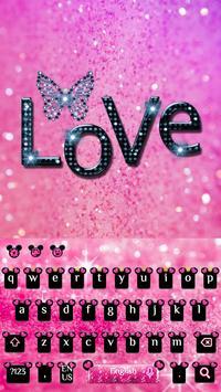 Pink Cute Minny Bowknot Keyboard Theme screenshot 6