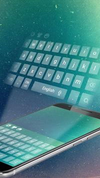 Galaxy cosmic keyboard theme poster