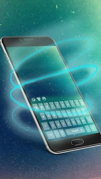 Galaxy cosmic keyboard theme screenshot 2