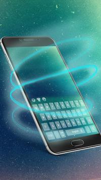 Galaxy cosmic keyboard theme apk screenshot