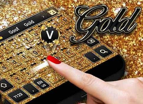 Sparkling Gold Keyboard screenshot 3