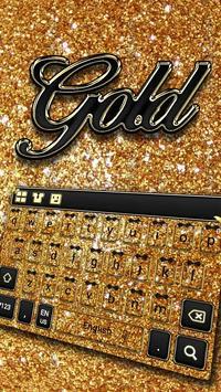 Sparkling Gold Keyboard poster