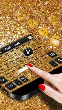 Sparkling Gold Keyboard screenshot 1