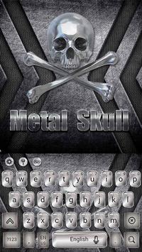 Metal Skull Keyboard Theme poster