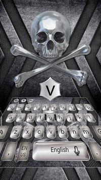 Metal Skull Keyboard Theme apk screenshot