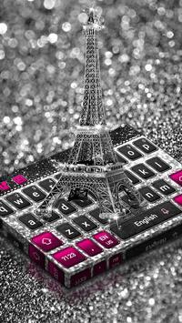 Paris Silver Keyboard poster
