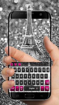 Paris Silver Keyboard apk screenshot
