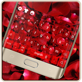 Red Rose Romantic Luxury Love Keyboard Theme icon