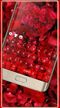 Red Rose Romantic Luxury Love Keyboard Theme poster