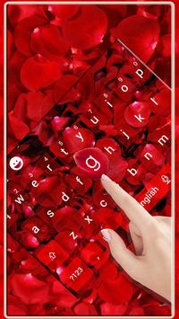 Red Rose Romantic Luxury Love Keyboard Theme apk screenshot