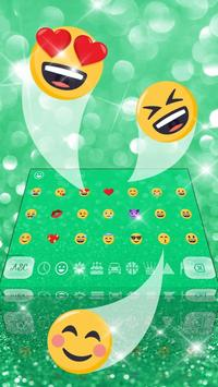 Shimmy Neon Green Keyboard Theme apk screenshot