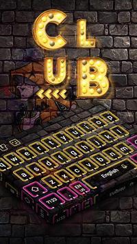 Neon Club Keyboard poster