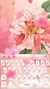 Pink love petal keyboard skin screenshot 3