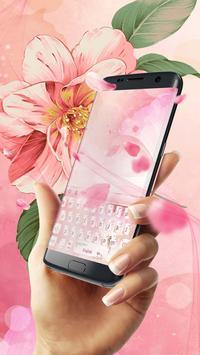Pink love petal keyboard skin poster