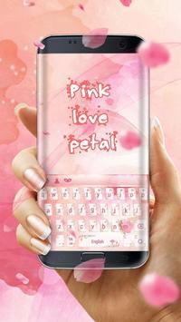 Pink love petal keyboard skin screenshot 1