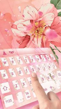 Pink love petal keyboard skin screenshot 2