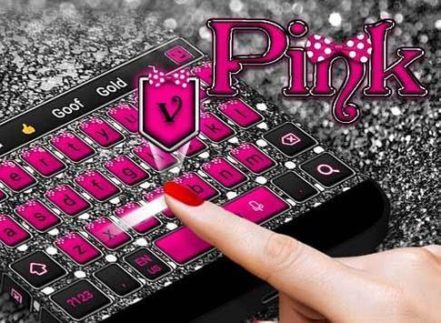 Pink Silver Bow Keyboard screenshot 3