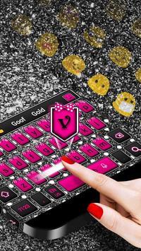 Pink Silver Bow Keyboard screenshot 1