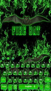 Fire Bat Keyboard Theme poster