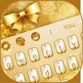 Golden Glitter Keyboard icon