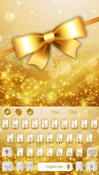 Golden Glitter Keyboard screenshot 3