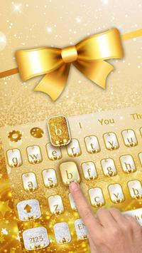Golden Glitter Keyboard poster