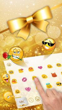 Golden Glitter Keyboard screenshot 1