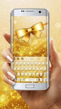 Golden Glitter Keyboard screenshot 2