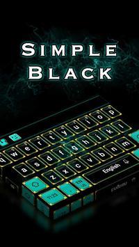 Simple Black Keyboard poster