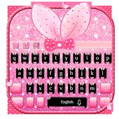 Cute Bunny Bow Keyboard icon