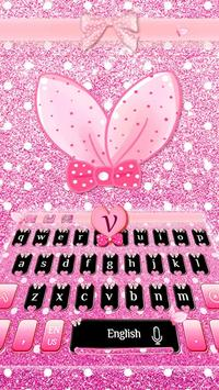 Cute Bunny Bow Keyboard poster