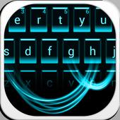 Cool simple black Keyboard Theme icon