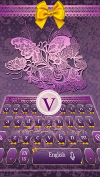 Pink Lace Keyboard screenshot 1