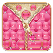 Mincing Pink Zipper Salmon Keyboard Theme icon