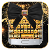 Bowknot Leopard Diamond Keyboard icon