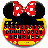 Cute Micky Bow keyboard Theme icon