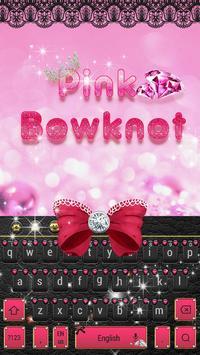 Minny Cute Pink Bowknot Keyboard screenshot 3
