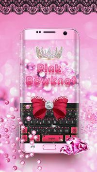 Minny Cute Pink Bowknot Keyboard poster