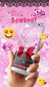 Minny Cute Pink Bowknot Keyboard screenshot 1