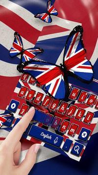 British Flag Keyboard Theme screenshot 1